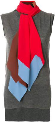 Marni cashmere sleeveless scarf sweater