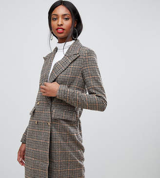 Vero Moda Tall Double Breasted Check Blazer