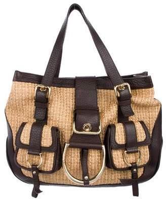 Dolce   Gabbana Raffia And Leather Bag - ShopStyle 9052232bc3692
