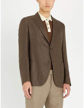 Eleventy Slim-fit linen and wool-blend blazer