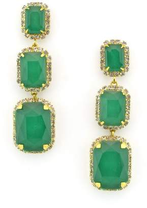 Elizabeth Cole Crystal Drop Earrings