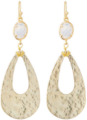 Nakamol Clear Stone & Teardrop Earrings