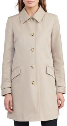 Women's Lauren Ralph Lauren A-Line Raincoat $180 thestylecure.com
