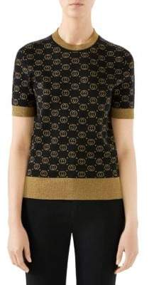 Gucci Fine Wool Knit GG Lurex Sweater