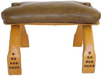 One Kings Lane Vintage Camel Saddle Stool - G3Q Designs