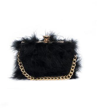3b8cac766f29 Missy Empire Missyempire Esra Black Faux Fur Chain Hand Bag
