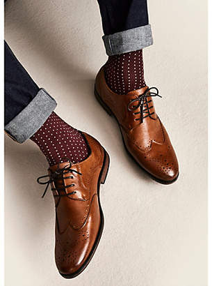 River Island Tan wide fit lace-up brogues
