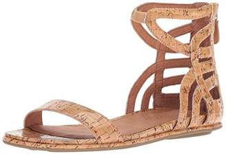 00f40659fdf9 Gentle Souls Women s Larisa Flat Sandal with Gladiator Ankle Straps