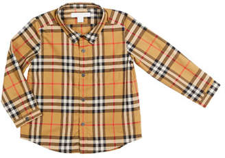 Burberry Fred Long-Sleeve Check Shirt, Size 6M-3