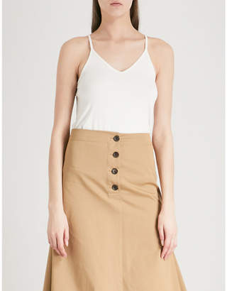 Joseph Ladies Ecru White V-Neck Sleeveless Jersey Camisole