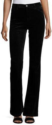 J Brand Maria Flare Velvet Pants, Black $258 thestylecure.com