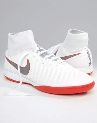 Nike Football Magista Obrax 2 Indoor Trainers In White AH7309-107