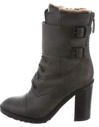 Tory Burch Leather Lace-Up Boots