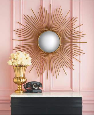Twos Company Sunburst Plain Glass Wall Mirror