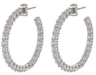 Kenneth Jay Lane CZ By Round CZ Inside-Out Hoop Earrings