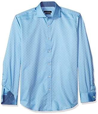 Bugatchi Men's Soft Cotton Tapered Fit Button Down Collar Shirt