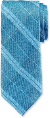 Duchamp Striped Pattern Silk Tie
