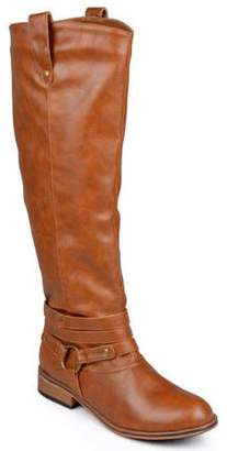 Brinley Co. Women's Knee-High Ankle-Strap Riding Boot