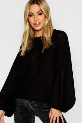 boohoo Petite Thick Knit Ribbed Sweater