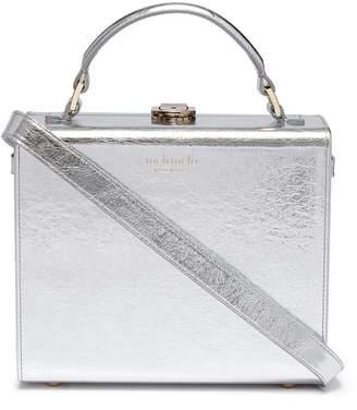Meli-Melo x Olivia Steele 'Art' slogan print leather box bag