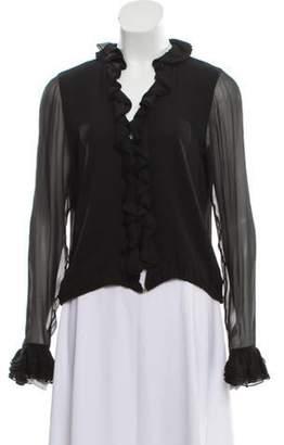 Gucci Silk Ruffle Blouse Black Silk Ruffle Blouse