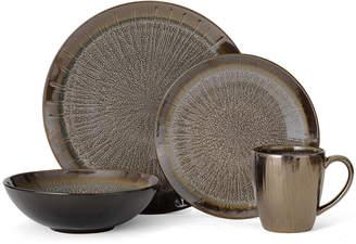 Mikasa Reed Gray 32 Piece Dinnerware Set