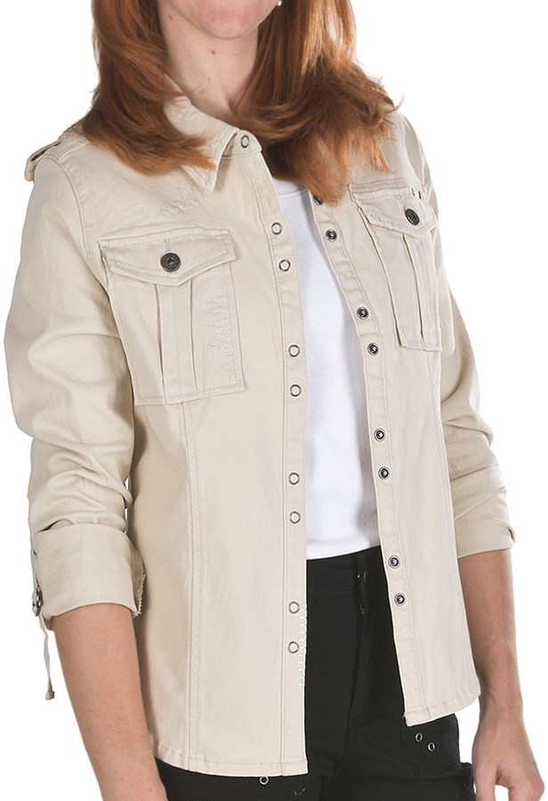 Ethyl Twill Shirt Jacket - Stretch Cotton, Long Sleeve (For Women)