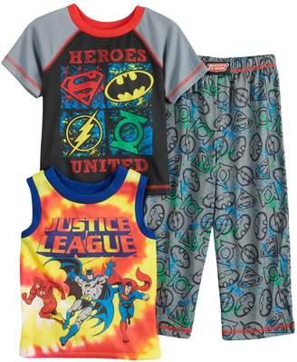 "Toddler Boy DC Comics ""Justice League"" Superman, Batman, The Flash & Green Lantern Tops & Bottoms Pajama Set"