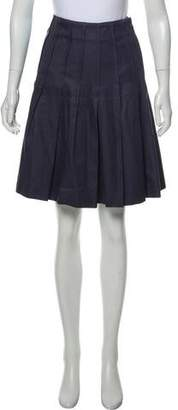 Nina Ricci Pleated Knee-Length Skirt w/ Tags