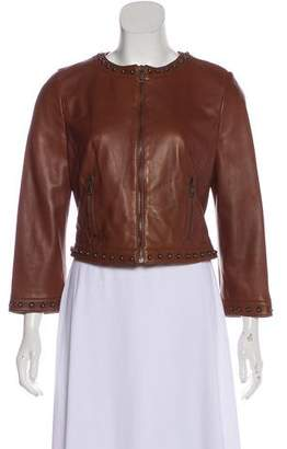 Dolce & Gabbana Long Sleeve Leather Jacket