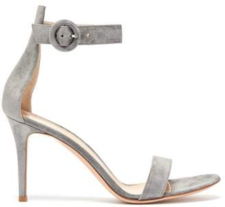 Gianvito Rossi - Portofino 85 Suede Sandals - Womens - Grey