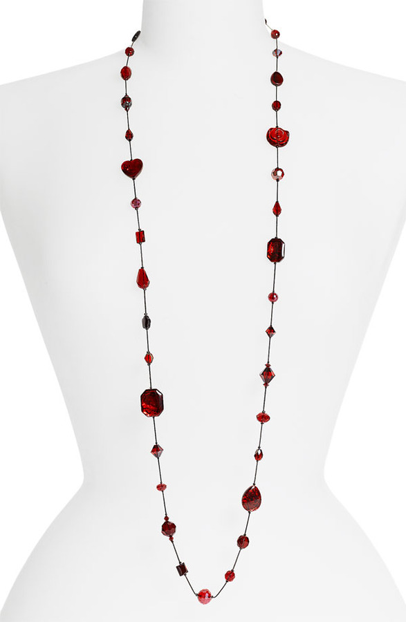 Dabby Reid Ltd. Long Strand Semiprecious & Crystal Necklace