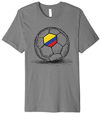 Colombia Colombian Flag Design On Soccer Ball Jersey T-Shirt