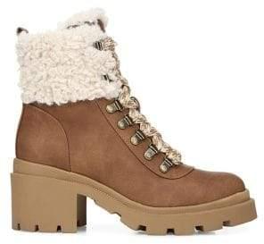 Sam Edelman Sambert Faux Fur-Trimmed Boots
