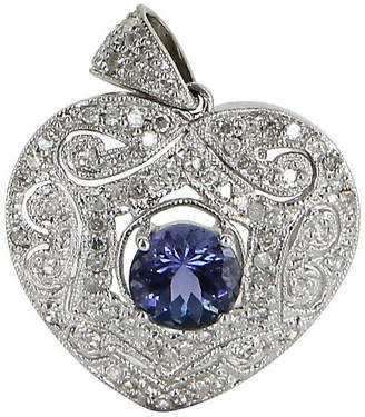 One Kings Lane Vintage Tanzanite & Diamond Heart Pendant - Precious & Rare Pieces
