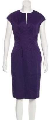 Lela Rose Cap Sleeve Midi Dress