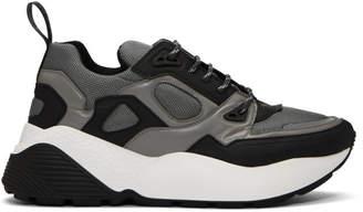 Stella McCartney Black and Silver Eclypse Sneakers