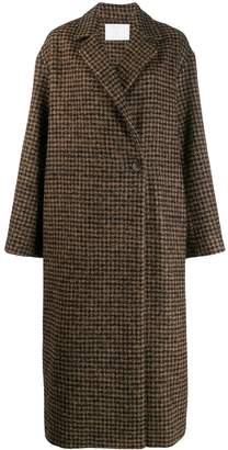 Societe Anonyme checked midi coat