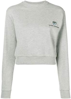 Chiara Ferragni cropped jersey sweater