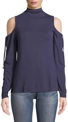 MICHAEL Michael Kors Cold-Shoulder Long-Sleeve Tee