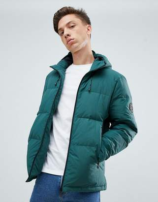 Jack Wills Embleton synthetic down puffer jacket in teal