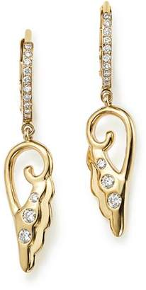 Temple St. Clair 18K Yellow Gold Diamond Wing Drop Earrings - 100% Exclusive