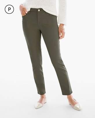 So Slimming Petite Sateen Girlfriend Ankle Jeans