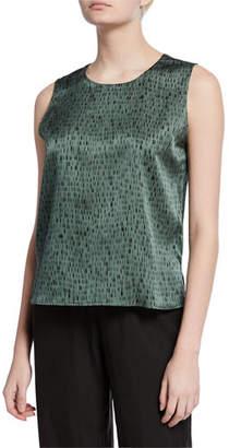 Eileen Fisher Dash-Print Silk/Organic Cotton Shell