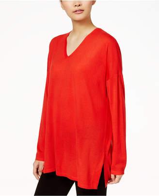 Eileen Fisher Wool V-Neck Tunic