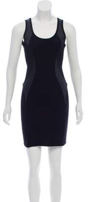 Under.ligne By Doo.ri Leather Trim Bodycon Dress