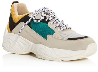 KENDALL + KYLIE Women's KK Focus Round-Toe Lace Up Platform Dad Sneaker
