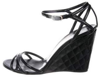 Chanel CC Quilted Leather Sandals