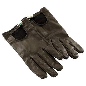 Bulgari Black Leather Gloves