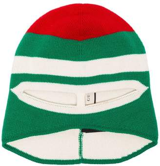 e194665da97 Free Shipping at Farfetch · Gucci red and green ribbed wool hat mask